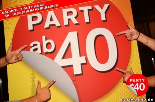 Party ab 40 • August 2016