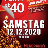 PARTY AB40 • Kölns größte Ü40 Party im Dezember – Weihnachtsediton