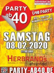 PARTY AB40 • Kölns größte Ü40 Party im Februar