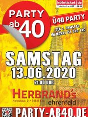 PARTY AB40 • Kölns größte Ü40 Party im Juni