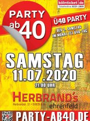 PARTY AB40 • Kölns größte Ü40 Party im Juli